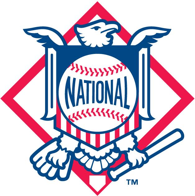National League Logo Alternate Logo (1998-2018) - Eagle with shield and National written on baseball SportsLogos.Net