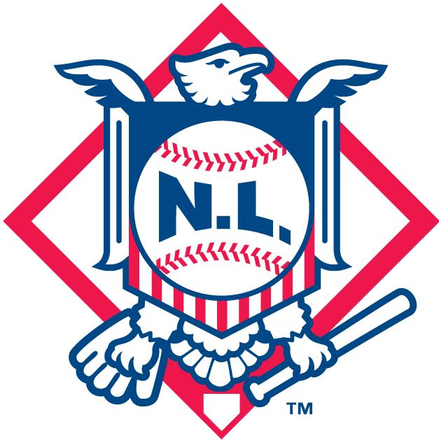 National League Logo Alternate Logo (1998-2018) - Eagle with shiled and NL written on baseball SportsLogos.Net