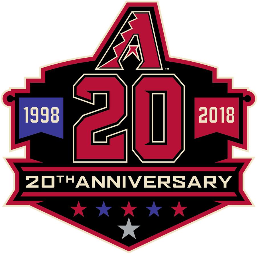 Arizona Diamondbacks Logo Anniversary Logo (2018) - Arizona Diamondbacks 20th anniversary logo, worn on jersey sleeve as a patch during 2018 season SportsLogos.Net