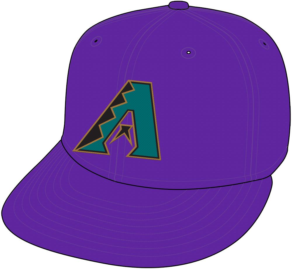 Arizona Diamondbacks Cap Cap (1998-2006) - Arizona Diamondbacks home purple cap SportsLogos.Net