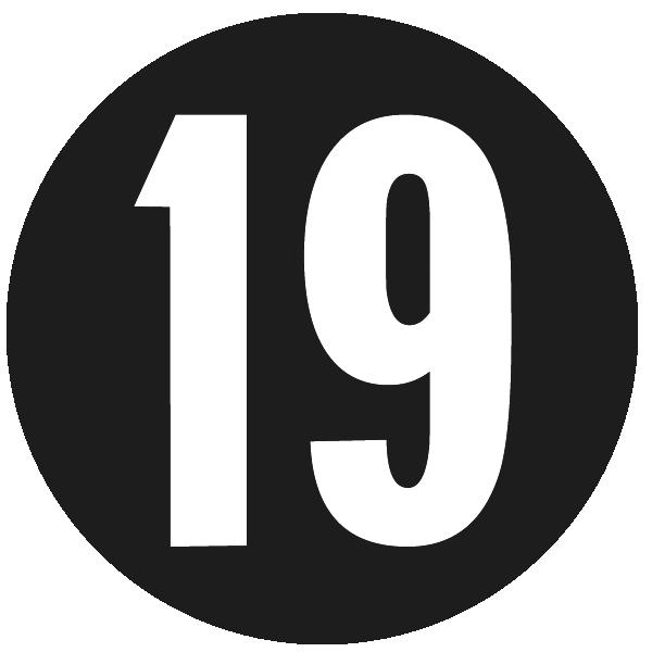 Arizona Diamondbacks Logo Memorial Logo (2013) - Black circle with white 19, the 19 is in the Diamondbacks pre-2008 font style. SportsLogos.Net