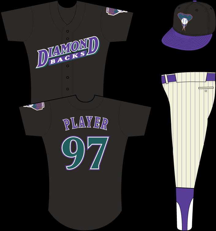 Arizona Diamondbacks Uniform Practice Uniform (1999) - Arizona Diamondbacks batting practice / spring training uniform, in use in 1999 SportsLogos.Net