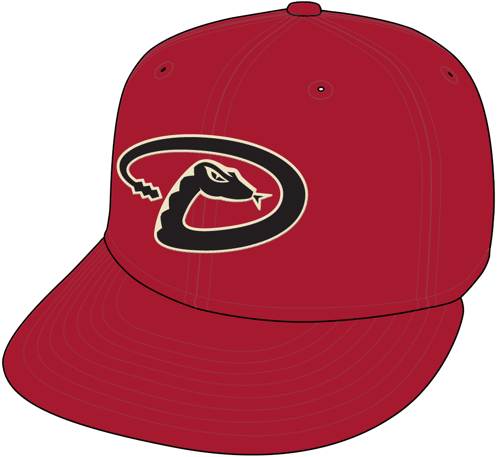 Arizona Diamondbacks Cap Cap (2007-2015) - Arizona Diamondbacks red cap with black D-snake logo SportsLogos.Net