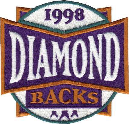 Arizona Diamondbacks Logo Unused Logo (1998) - Unused patch originally intended to be worn as an inaugural season patch on all team jerseys for the 1998 season, replaced prior to the season with another design SportsLogos.Net