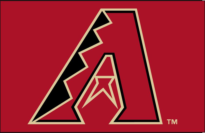 Arizona Diamondbacks Logo Primary Dark Logo (2012-Pres) - Arizona Diamondbacks primary logo on red SportsLogos.Net