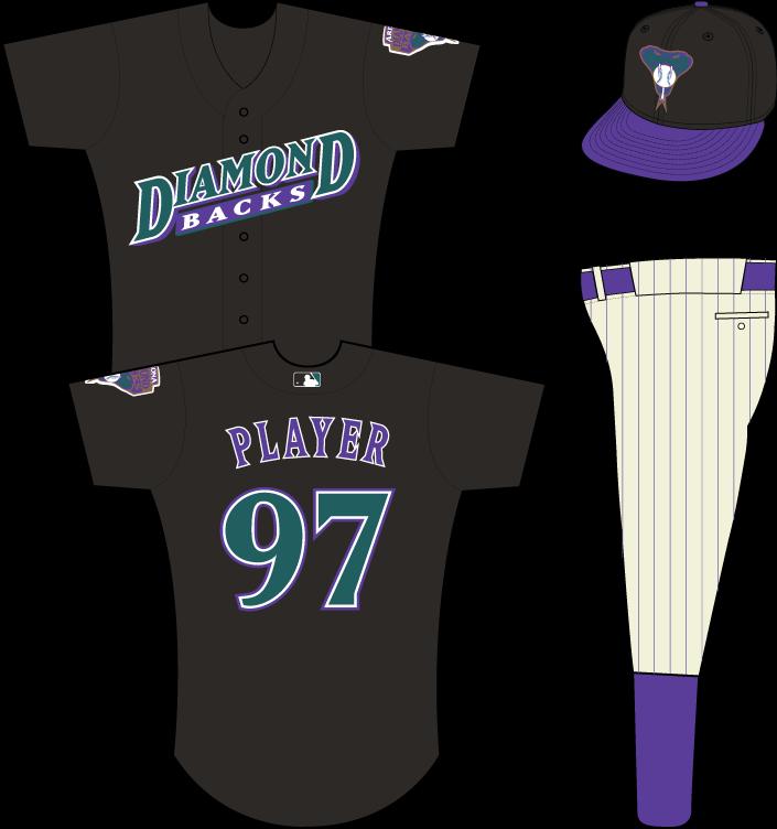 Arizona Diamondbacks Uniform Practice Uniform (2000) - Arizona Diamondbacks batting practice / spring training uniform, in use in 2000 SportsLogos.Net
