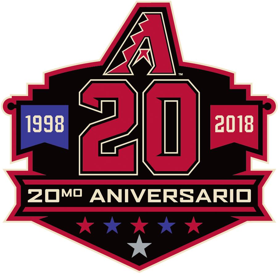 Arizona Diamondbacks Logo Anniversary Logo (2018) - Arizona Diamondbacks 20th anniversary logo in Spanish. Logo del 20º aniversario de los Arizona Diamondbacks en español SportsLogos.Net