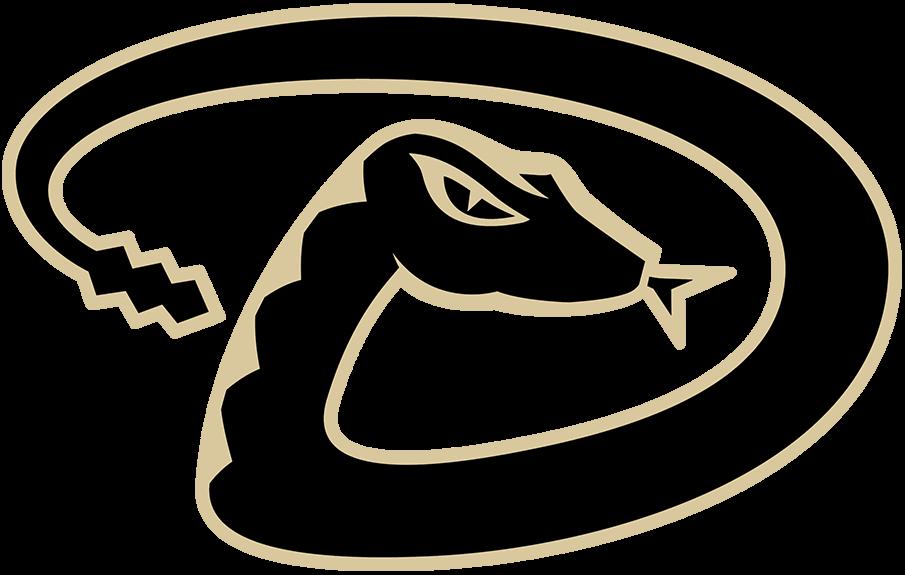 Arizona Diamondbacks Logo Alternate Logo (2007-Pres) - Snake forming a D in black with a sand outline SportsLogos.Net