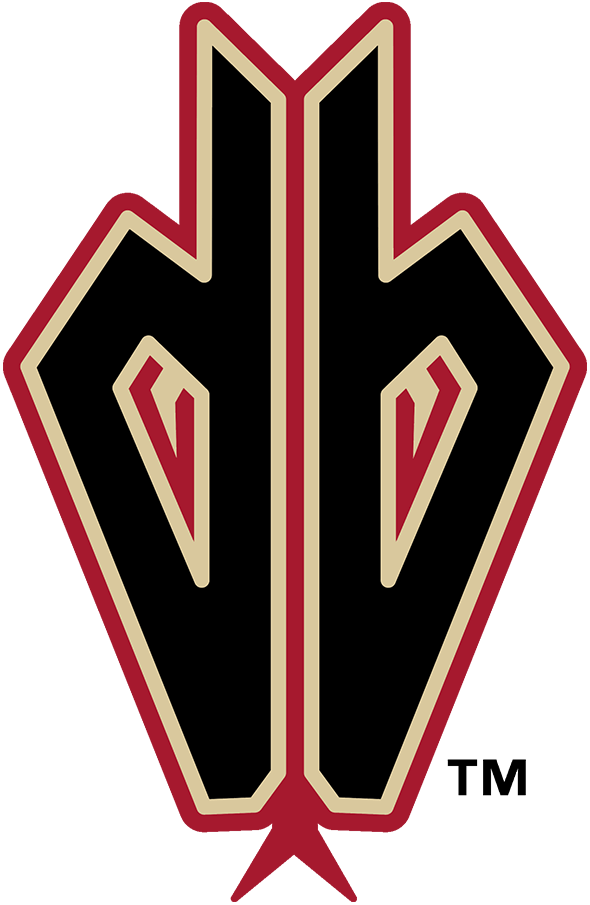 Arizona Diamondbacks Logo Alternate Logo (2008-2015) - Worn on the sleeves of their jerseys of the time, this Arizona Diamondbacks logo showed a lowercase db (for Diamondbacks) with the eyes of a snake inside the letters and a snake tongue below. This version differs from the one-year-only style in 2007 in that is has included the eyes of the snake within the letters. SportsLogos.Net