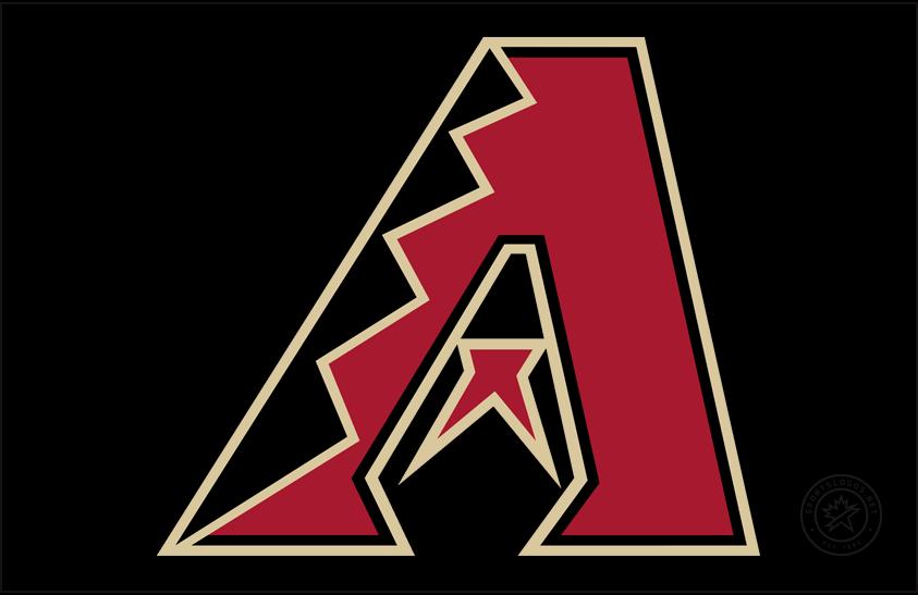 Arizona Diamondbacks Logo Cap Logo (2020-Pres) - Dbacks A logo in red on black (with no gradient this time), worn on Arizona Diamondbacks primary home and road cap starting in 2020 SportsLogos.Net
