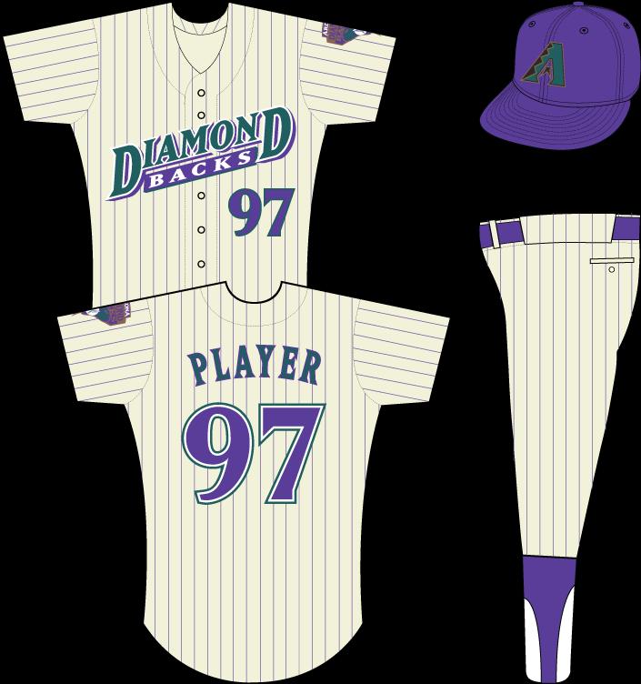 Arizona Diamondbacks Uniform Home Uniform (1999-2000) -