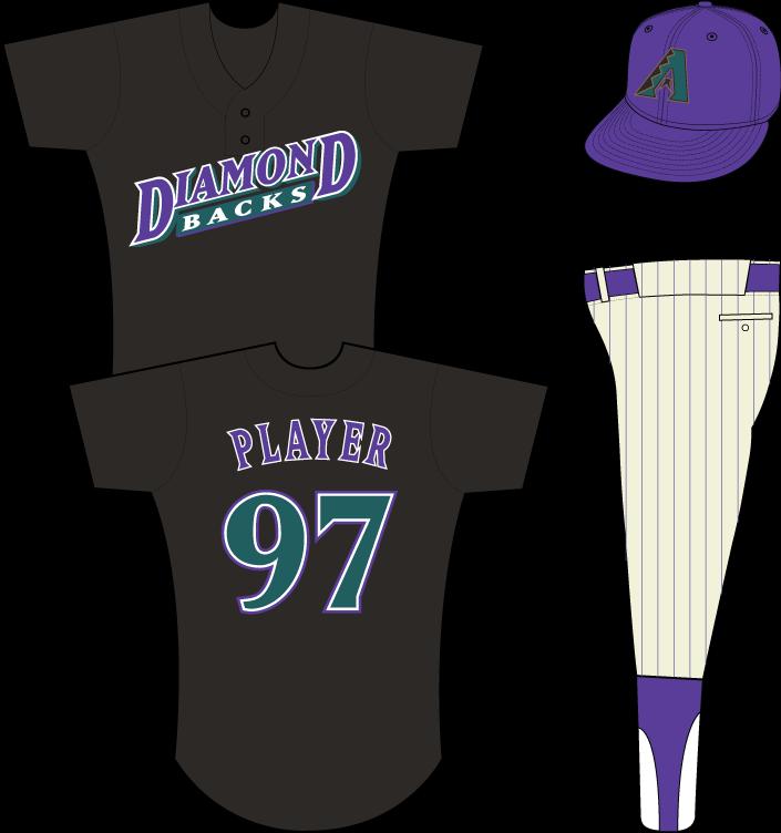 Arizona Diamondbacks Uniform Practice Uniform (1998) - Arizona Diamondbacks batting practice / spring training uniform, in use in 1998 SportsLogos.Net