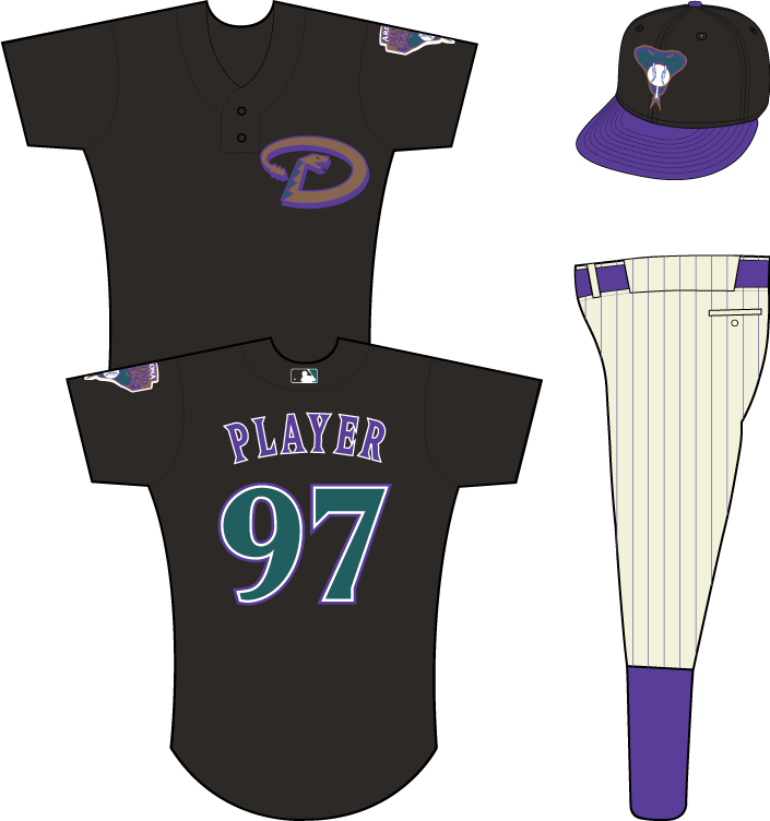 Arizona Diamondbacks Uniform Practice Uniform (2001-2002) - Arizona Diamondbacks batting practice / spring training uniform, in use from 2001-2002 SportsLogos.Net