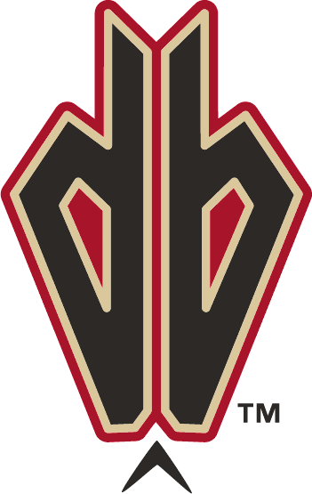 Arizona Diamondbacks Logo Alternate Logo (2007) - Black lowercase D and B together, forming a snake head with sand and red outlines SportsLogos.Net