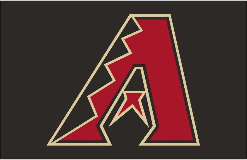Arizona Diamondbacks Logo Jersey Logo (2007-Pres) - Black, red and sand A on black, worn on the Arizona Diamondbacks black alternate jersey beginning in 2007 SportsLogos.Net