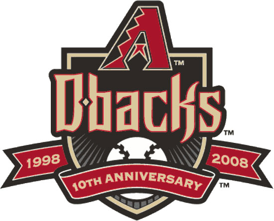Arizona Diamondbacks Logo Anniversary Logo (2008) - 10th Anniversary of the Arizona Diamondbacks SportsLogos.Net