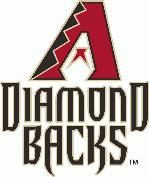Arizona Diamondbacks Logo Alternate Logo (2012-2013) - Red, black and sand A above Diamond Backs in black with a sand outline  SportsLogos.Net