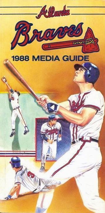 Atlanta Braves Media Guide Media Guide (1988) -  SportsLogos.Net