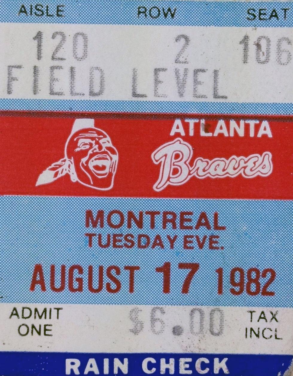 Atlanta Braves Ticket Stub Ticket Stub (1982) -  SportsLogos.Net