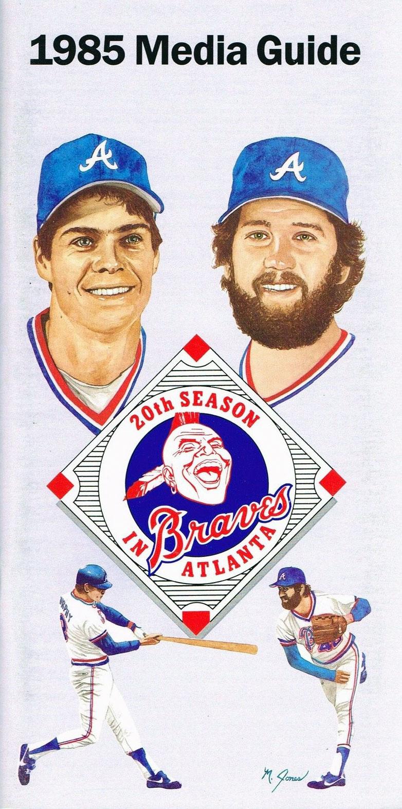 Atlanta Braves Media Guide Media Guide (1985) -  SportsLogos.Net