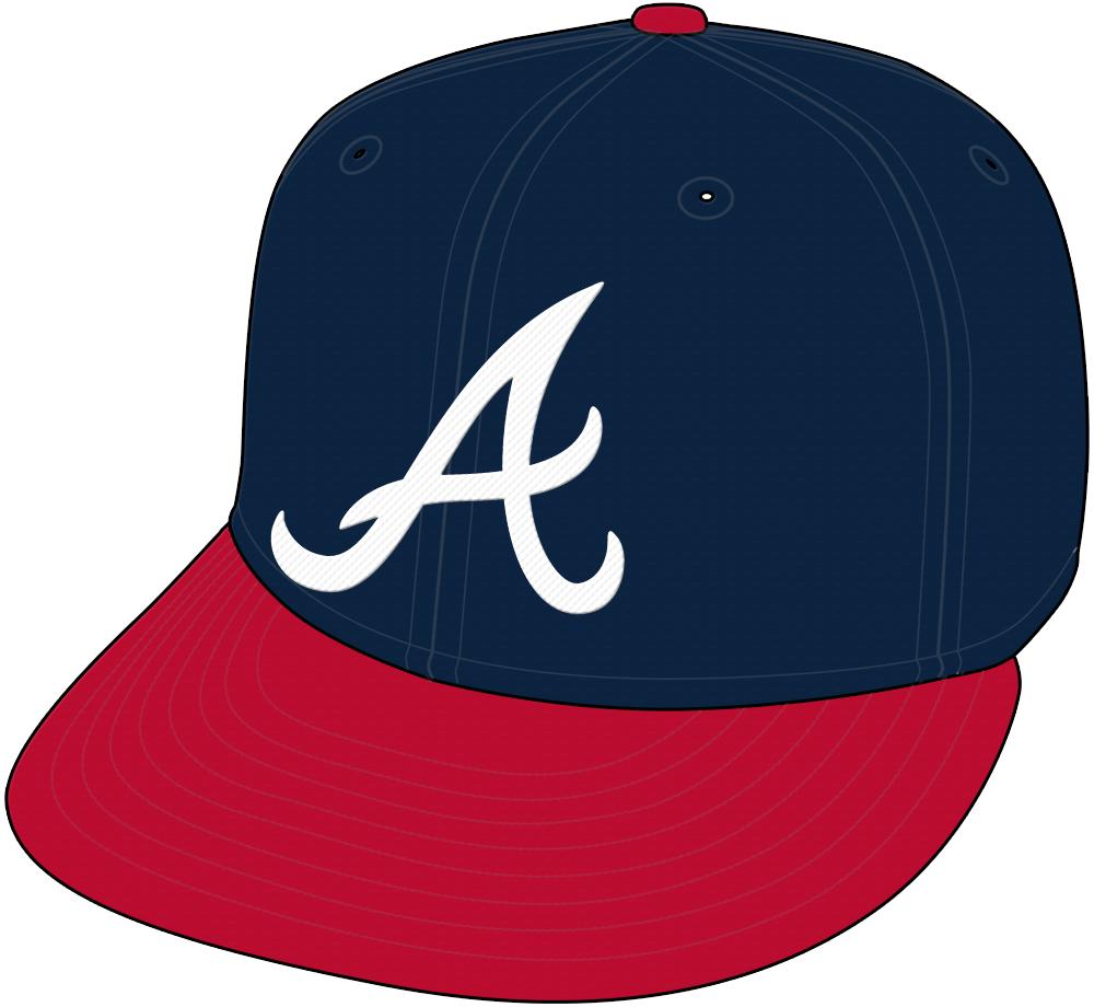 Atlanta Braves Cap Cap (2018-Pres) - Home cap, shade of blue darkened after 2017 season SportsLogos.Net