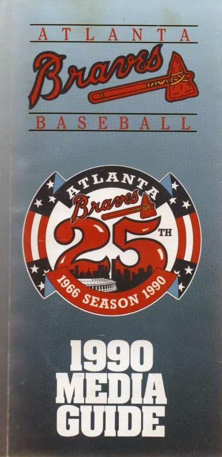Atlanta Braves Media Guide Media Guide (1990) -  SportsLogos.Net