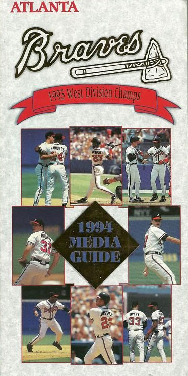 Atlanta Braves Media Guide Media Guide (1994) -  SportsLogos.Net