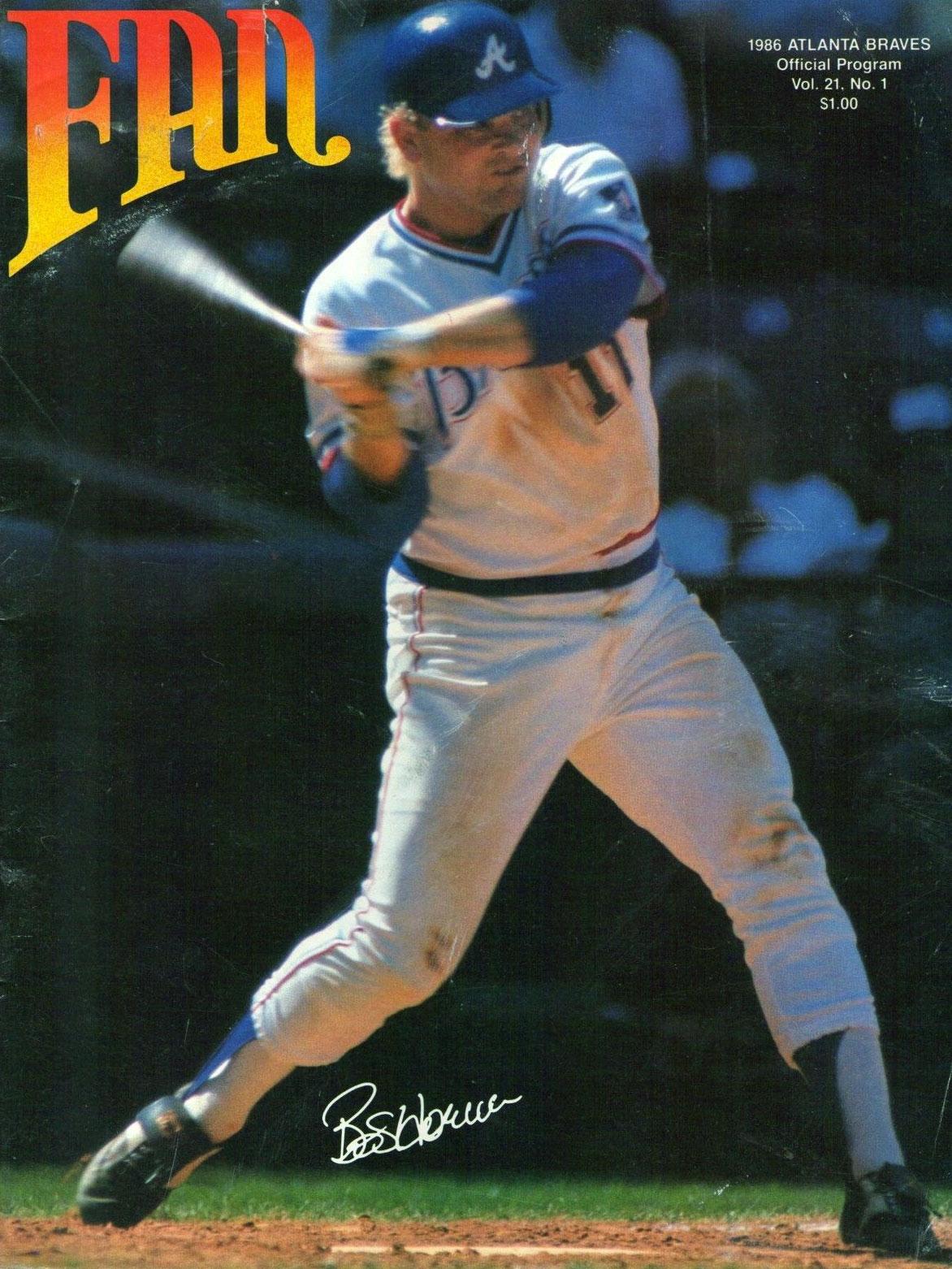 Atlanta Braves Program Program (1986) -  SportsLogos.Net