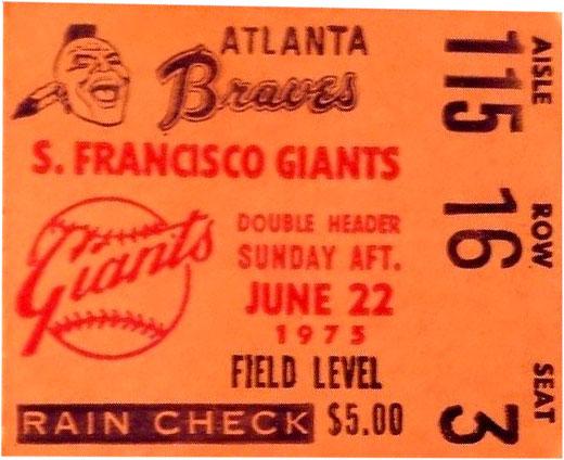 Atlanta Braves Ticket Stub Ticket Stub (1975) -  SportsLogos.Net
