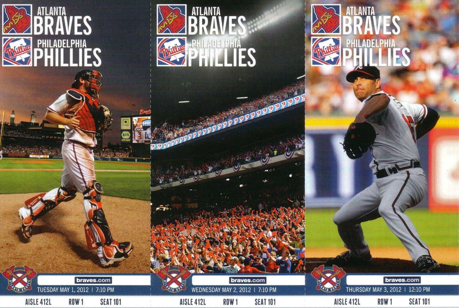 Atlanta Braves Ticket Stub Ticket Stub (2012) -  SportsLogos.Net