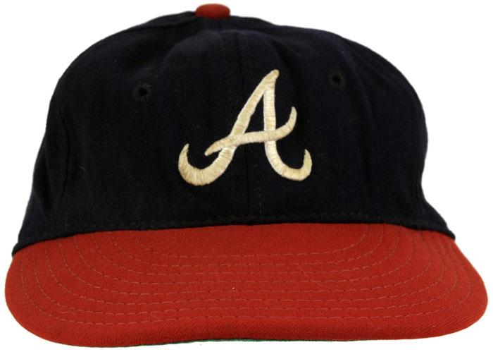 Atlanta Braves Game-Worn Cap Photo Cap Photo (1966-1967) - Game-worn Atlanta Braves cap, style used from 1966 to 1967 SportsLogos.Net