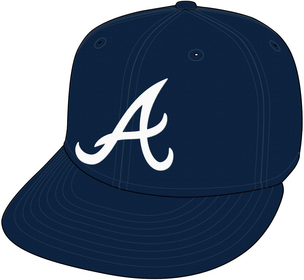 Atlanta Braves Cap Cap (2018-Pres) - Road cap, shade of blue darkened after 2017 season SportsLogos.Net
