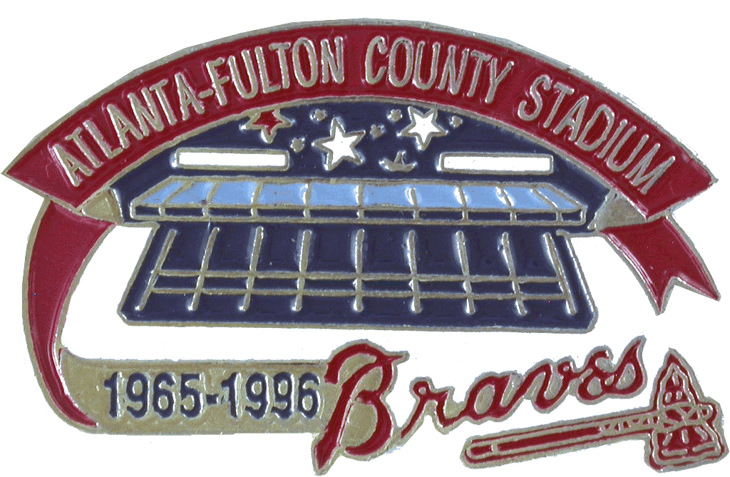Atlanta Braves Logo Stadium Logo (1996) - Atlanta-Fulton County Stadium Final Season SportsLogos.Net