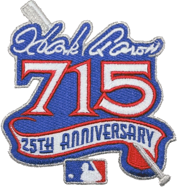 Atlanta Braves Logo Misc Logo (1999) - Hank Aaron's 715th Home Run - 25th Anniversary SportsLogos.Net