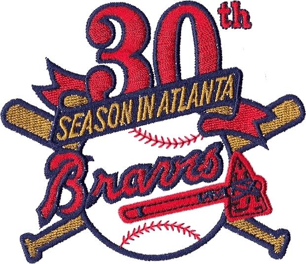 Atlanta Braves Logo Anniversary Logo (1995) - Atlanta Braves 30th Season SportsLogos.Net