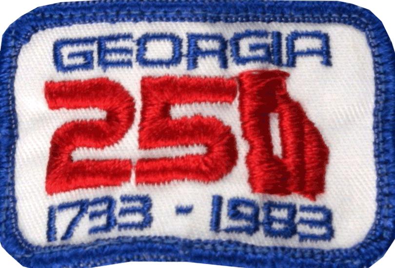 Atlanta Braves Logo Misc Logo (1983) - State of Georgia 250th Anniversary -- Worn as a patch on the sleeve of the Atlanta Braves uniforms throughout the 1983 season  SportsLogos.Net