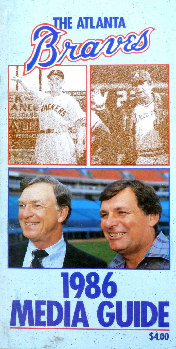 Atlanta Braves Media Guide Media Guide (1986) -  SportsLogos.Net