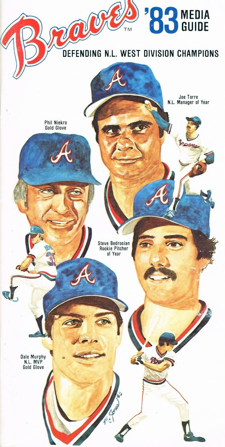 Atlanta Braves Media Guide Media Guide (1983) -  SportsLogos.Net