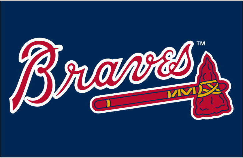 Atlanta Braves Logo Primary Dark Logo (1987-2017) -  SportsLogos.Net