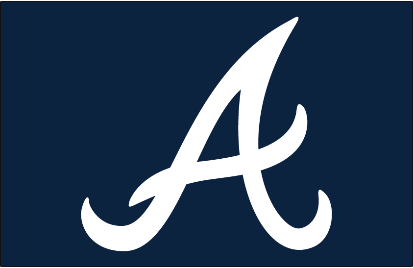 Atlanta Braves Logo Cap Logo (1966-1971) - White A on navy blue, worn on the Atlanta Braves home and road caps from 1966 through 1971, and again from 1987 through present day. This same logo on a lighter blue cap was also worn from 1981 to 1986. SportsLogos.Net