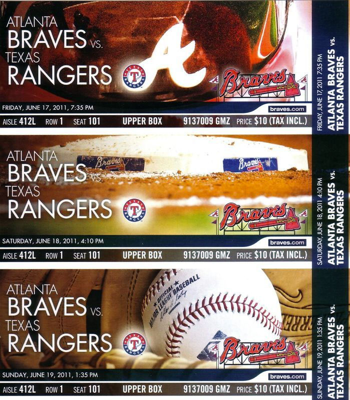 Atlanta Braves Ticket Stub Ticket Stub (2011) -  SportsLogos.Net