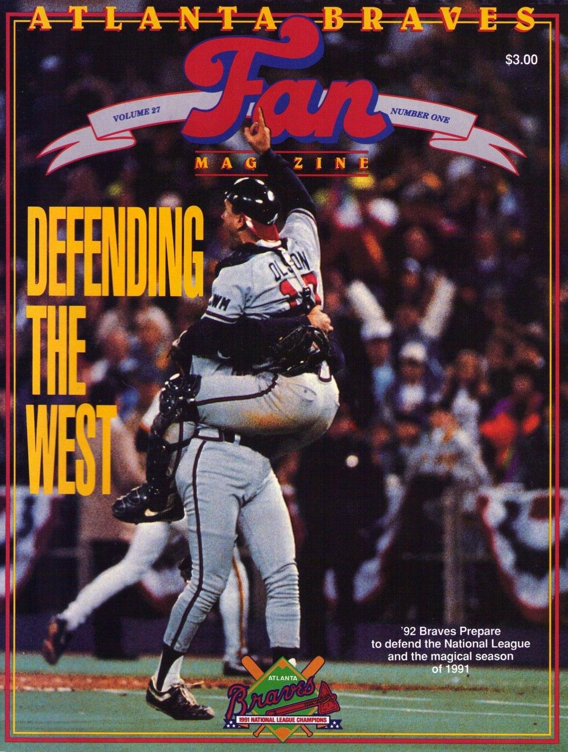 Atlanta Braves Program Program (1992) -  SportsLogos.Net