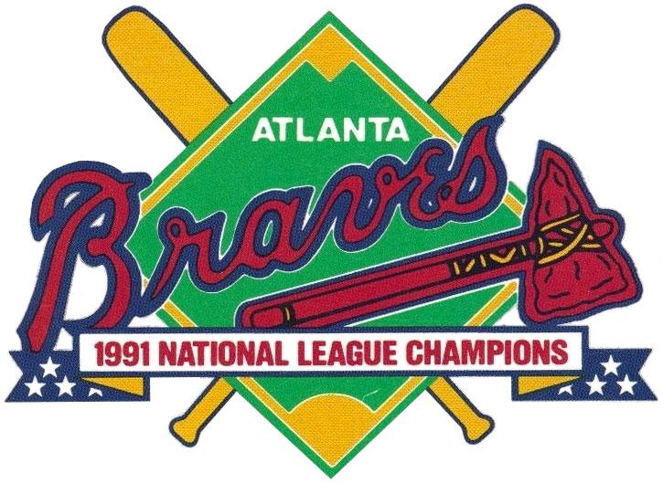 Atlanta Braves Logo Champion Logo (1991) - Atlanta Braves 1991 National League Champions logo SportsLogos.Net