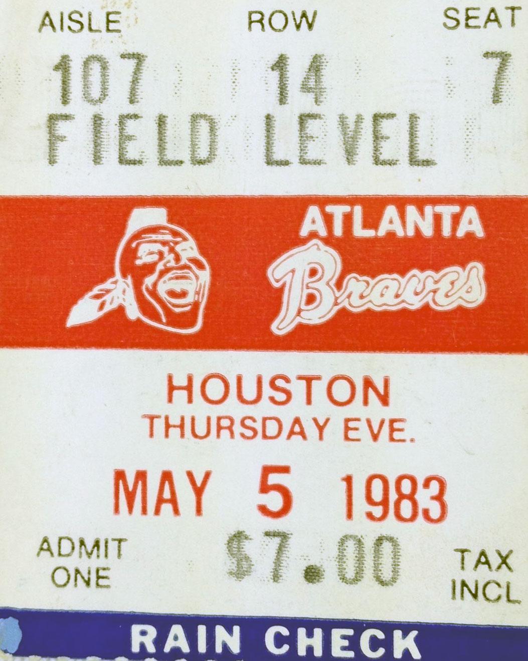 Atlanta Braves Ticket Stub Ticket Stub (1983) -  SportsLogos.Net