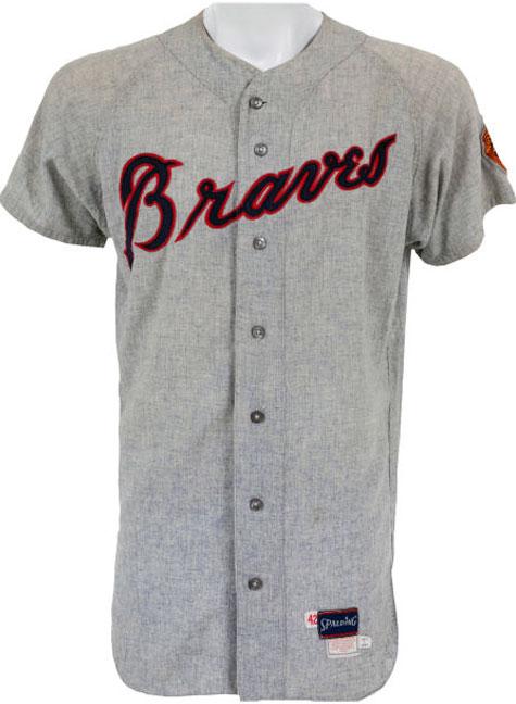 Atlanta Braves Game-Worn Jersey Photo Jersey Photo (1968-1971) - Game-worn Atlanta Braves road jersey, style used from 1968 to 1971 SportsLogos.Net