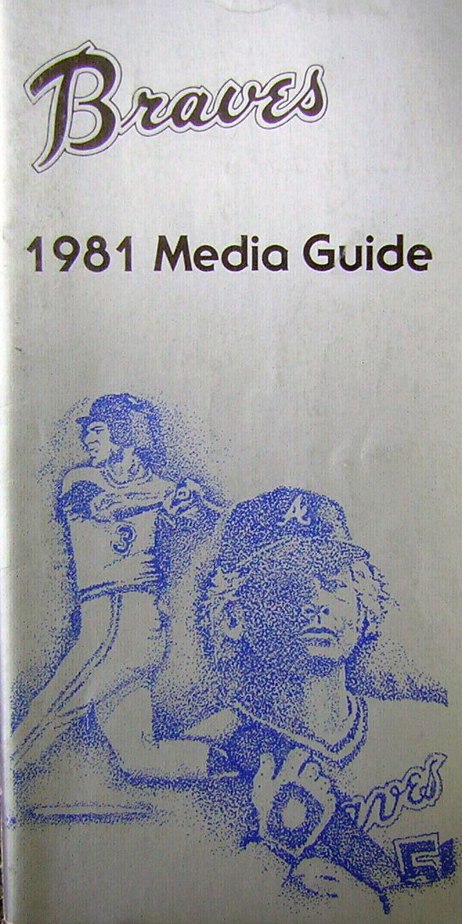 Atlanta Braves Media Guide Media Guide (1981) -  SportsLogos.Net