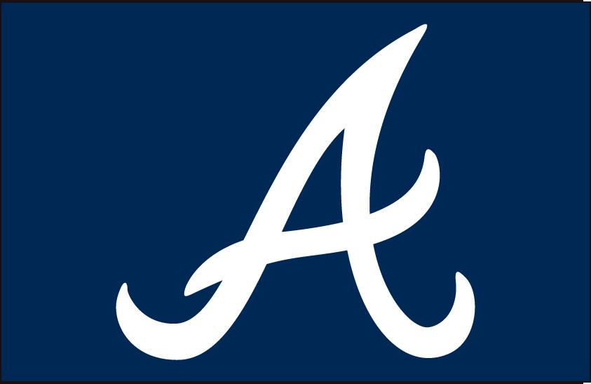 Atlanta Braves Logo Cap Logo (1987-2017) - White A on a navy blue background, shade of blue was darkened following the 2017 season SportsLogos.Net