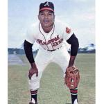 Atlanta Braves (1967) Felipe Alou wearing the Atlanta Braves home uniform during the 1967 season