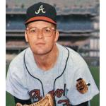 Atlanta Braves (1967) Claude Raymond wearing the Atlanta Braves road uniform during the 1967 season