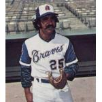 Atlanta Braves (1973) Danny Frisella wearing the Atlanta Braves home uniform during the 1973 season